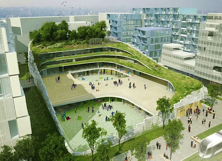 CHARTIER-DALIX School with Green roof