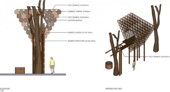 Stromodom utkaný z bambusu (5)