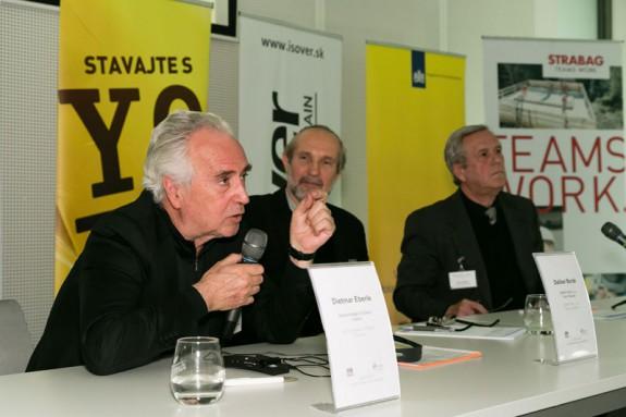 Zľava: Dietmar Eberle, Dalibor Borák, Robert Špaček (FA STU)